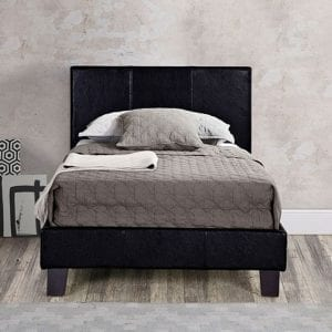 bbe6c9365cda Abigail Black and Brass Metal Bed Frame - Grove Bedding